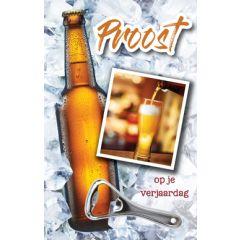 wenskaart - proost op je verjaardag - bier