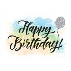 wenskaart - happy birthday - ballon