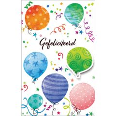 wenskaart - gefeliciteerd - ballonnen