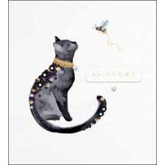 wenskaart the proper mail company - be lucky - zwarte kat