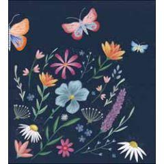wenskaart woodmansterne - bloemen en vlinders