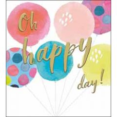 felicitatiekaart the proper mail company - oh happy day - ballonnen