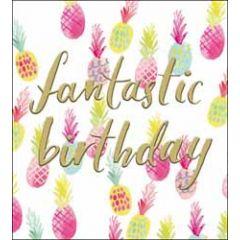 verjaardagskaart the proper mail company - fantastic birthday - ananas