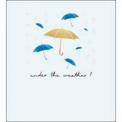 beterschapskaart the proper mail company - under the weather - paraplu