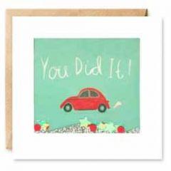 wenskaart  shakies - you did it! - rijbewijs gehaald
