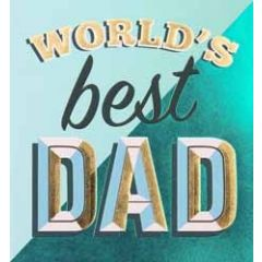 wenskaart caroline gardner - world s best dad
