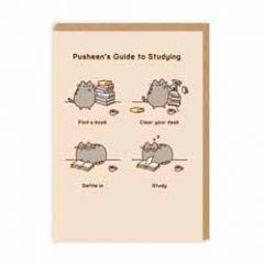 wenskaart pusheen - pusheen's guide to studying