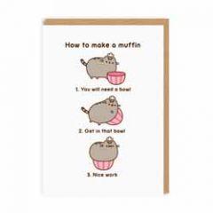 wenskaart pusheen - How to make a muffin