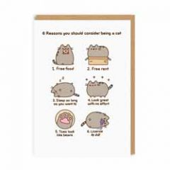 wenskaart pusheen - 6 reasons you should consider being a cat
