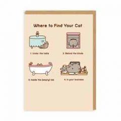 wenskaart pusheen - where to find your cat