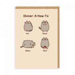 wenskaart pusheen - dinner: a how-to