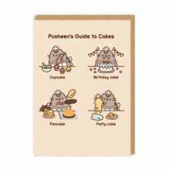 wenskaart pusheen - pusheen's guide to cakes