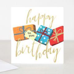 wenskaart caroline gardner - happy birthday to you - cadeautjes