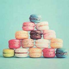 retro wenskaart busquets - macarons