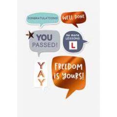 felicitatiekaart rijbewijs gehaald - freedom is yours
