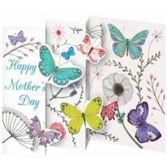 lasergesneden en in 3-en gevouwen moederdagkaart roger la borde - happy mothers day - vlinders