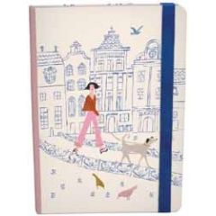 notitieboek A5 - roger la borde - walk this way - stadswandeling