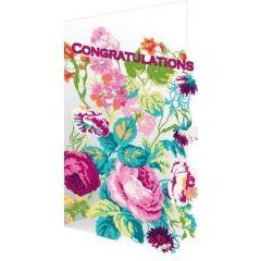 laser gesneden felicitatiekaart roger la borde - congratulations