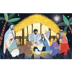8 kerstkaartjes roger la borde - kerststal