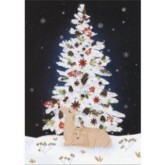 8 kerstkaarten roger la borde - kerstboom