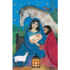 8 christelijke kerstkaarten roger la borde - kerststal