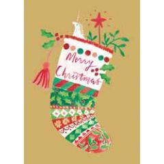 kerstkaart roger la borde - merry christmas - sok en eenhoorn