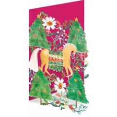 laser gesneden kerstkaart roger la borde - paard