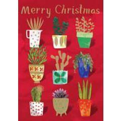 kerstkaart roger la borde - merry christmas - planten