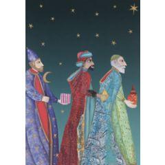 8 christelijke kerstkaarten roger la borde - 3 wijzen koningen