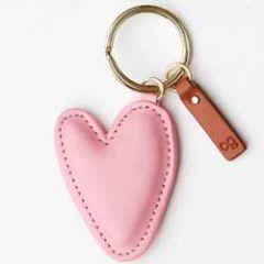 sleutelhanger - tashanger - hart roze