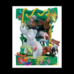 3D kaart - swing cards - dieren in oerwoud