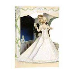 3D trouwkaart - swing cards - bruidspaar