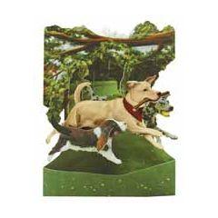 3D kaart - swing cards - honden