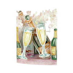 3D kaart - swing cards: Champagne
