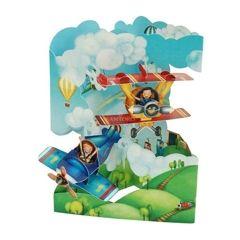 3D kaart - swing cards - vliegtuig