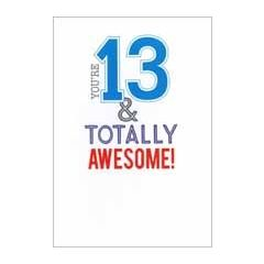 13 jaar - verjaardagskaart - you re 13 & totally awesome!