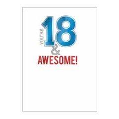 18 jaar - verjaardagskaart - you re 18 & awesome!