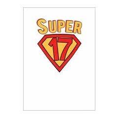 17 jaar - verjaardagskaart - super 17