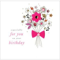 verjaardagskaart - just a note to say happy birthday - notenbalk muziek