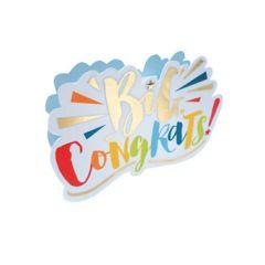 3d wenskaart paper dazzle - big congrats!