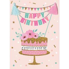 wenskaart second nature - happy birthday - taart