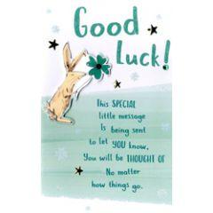 wenskaart - good luck