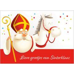 sinterklaas ansichtkaart - lieve groetjes van Sinterklaas | muller wenskaarten