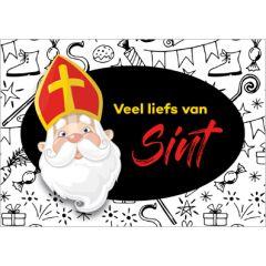 sinterklaas ansichtkaart - veel liefs van Sint