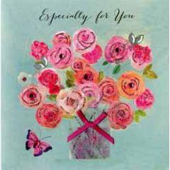 verjaardagskaart - especially for you - bos bloemen