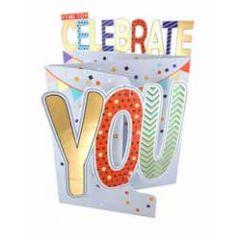 3d verjaardagskaart cutting edge - time to celebrate you