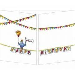 uitklapbare verjaardagskaart cache-cache - happy birthday