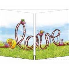uitklapbare trouwkaart cache-cache - love