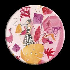 make up spiegeltje met fluwelen hoesje - anne-sophie rutsaert - flamingo