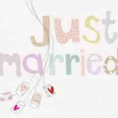 trouwkaart caroline gardner - just married